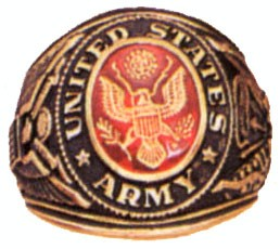 Army Deluxe Engraved Ring
