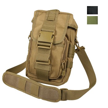 Flexipack Tactical MOLLE Shoulder Bag - Black or Coyote