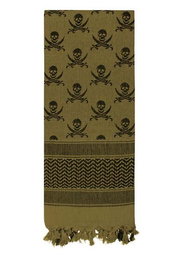 Skull and Crossbones Shemagh Tactical Scarf