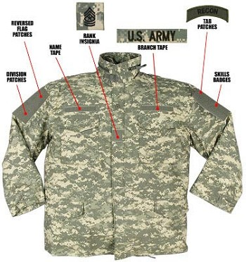 Basic Issue ACU Digital M-65 Field Jacket