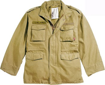 Basic Issue Vintage Khaki M-65 Field Jacket