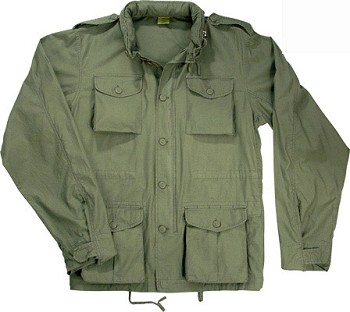 Lightweight Vintage M-65 Field Jacket - Black, Khaki, or Sage