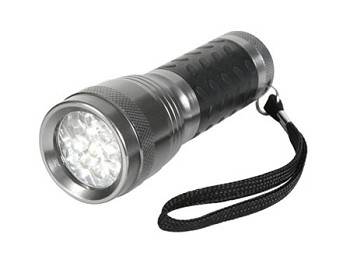 14 LED Flashlight - Gun Metal