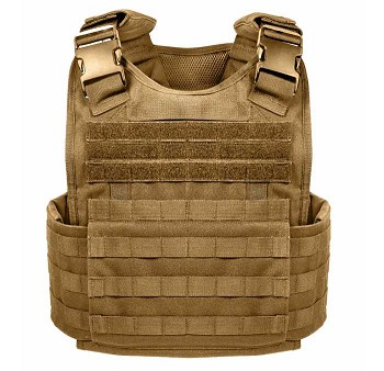 Coyote Brown MOLLE Plate Carrier Tactical Vest