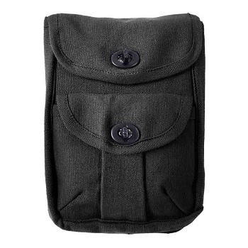 Black Canvas 2-Pocket Ammo Pouch