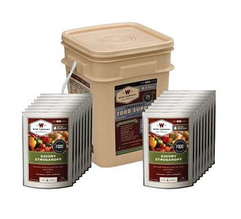 Wise 60 Serving Entree Only Grab and Go Emergency Food Bucket