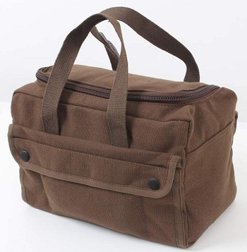 Mechanics Tool Bag with U Shaped Zipper - Brown
