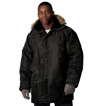 N-3B Military Style Winter Snorkel Parka - Black, Sage or Navy