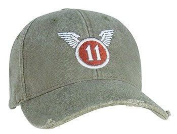 Vintage Olive Drab 11th Airborne Low Profile Baseball Cap