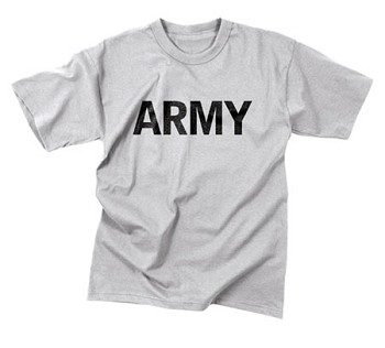 Grey Moisture Wicking Army T-Shirt
