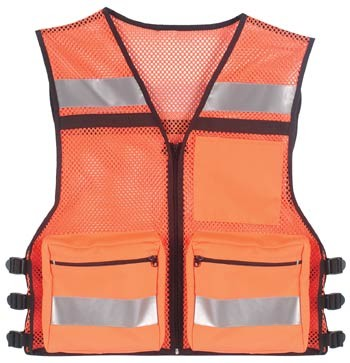 Orange Public Safety Mesh Hi-Vis Vest