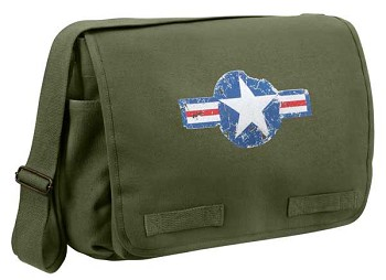Vintage Army Air Corp Olive Drab Messenger Bag