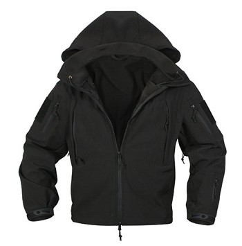 Black Special Ops Soft Shell Waterproof Jacket
