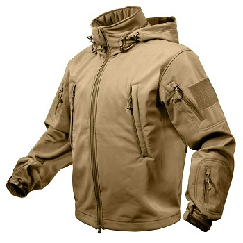 Coyote Brown Special Ops Soft Shell Waterproof Jacket