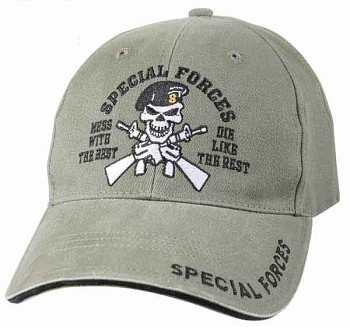 Vintage Olive Drab Special Forces Baseball Hat