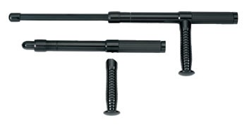 21-inch Black Aluminum Expandable Baton With Side Handle