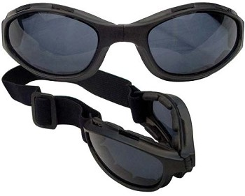 Black Collapsible Tactical Safety Goggles