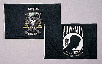 Deluxe 3x5 POW MIA Military Flag