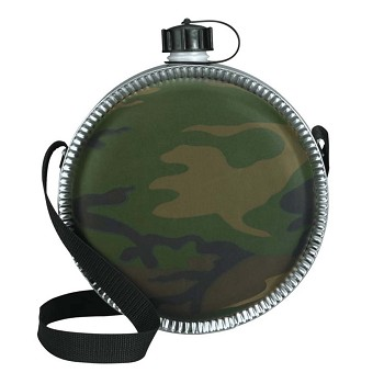 Large Woodland Camo Stainless Steel Canteen