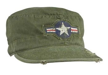 Olive Drab Vintage Army Air Corp Cap