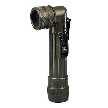 C-Cell Anglehead Military Flashlight-Olive Drab