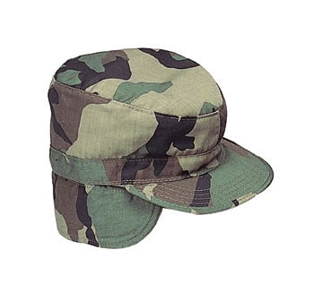 G.I. Style Combat Cap With Flaps