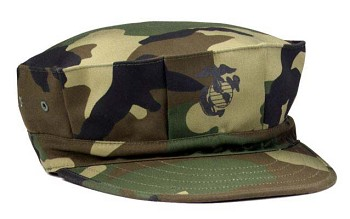 Twill Marine Corps Fatigue Cap with Emblem