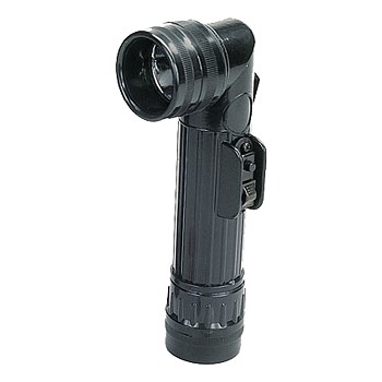 Basic Issue Black D-Cell Angle Head Flashlight