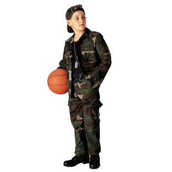 Kids Camouflage BDU Top