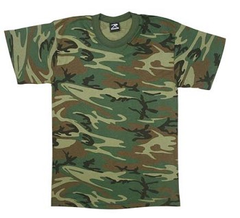 Kids Camo Short Sleeve T-shirt