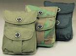 Olive Drab Canvas 2-Pocket Ammo Pouch