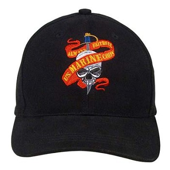 Marine Skull Ribbon Baseball Hat