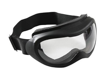 Black Tactical Goggles with Clear Lenses