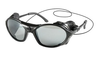 Tactical Sunglasses with Leather Wind Guard