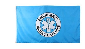 EMS Flag - 3 foot x 5 foot