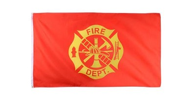 Red Fire Department Flag-3 foot x 5 foot