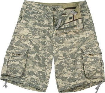 Vintage Army Digital Camouflage Infantry Cargo Shorts