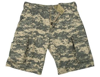 Vintage ACU Digital Camouflage Military Cargo Shorts
