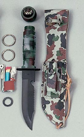 Basic Issue Camouflage Survival Knife