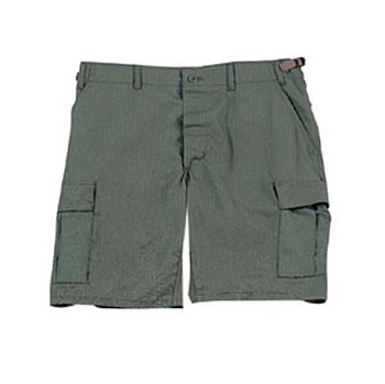 Olive Drab Military BDU Cargo Shorts