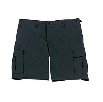 Black Military BDU Cargo Shorts