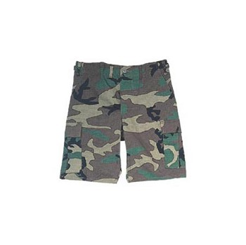 Woodland Camo Military BDU Cargo Shorts