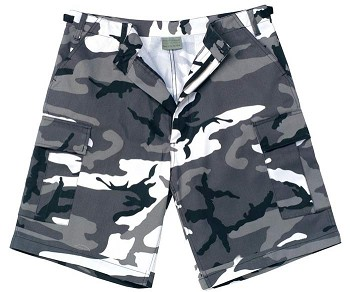 City Camo Military BDU Cargo Shorts