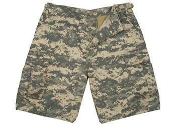 Army Digital Camo Military BDU Cargo Shorts