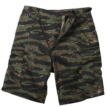 Tiger Stripe Camo Military BDU Cargo Shorts
