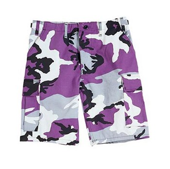 Ultra Violet Camo Military BDU Cargo Shorts