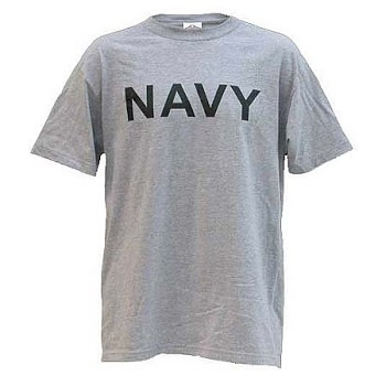 Navy Grey Physical Training Style T-shirt
