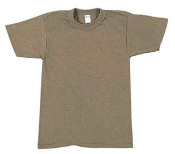 Military G.I. Style Brown T-shirt