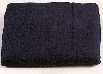 Navy Blue Virgin Wool Blanket
