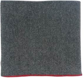 Grey Virgin Wool Blanket